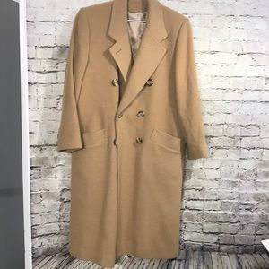 Vintage Camel Hair Trench Coat Size 8